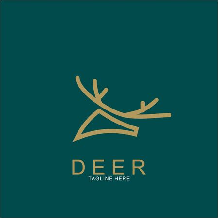 Deer logo design with modern concept. Icon deer design. vector illustration