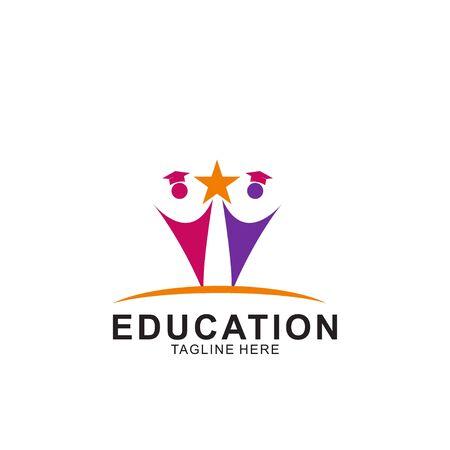 Education logo design with modern concept. Icon education vector illustration. Logó
