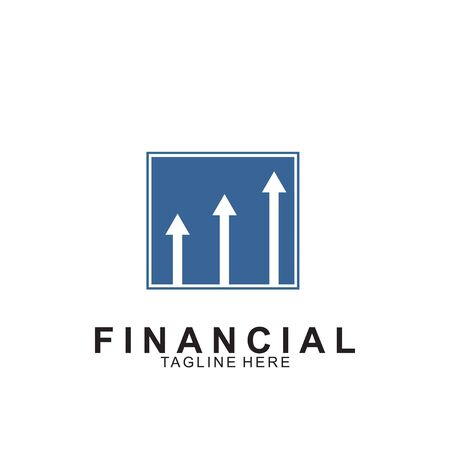 Financial and accounting business logo design. Icon financial vector