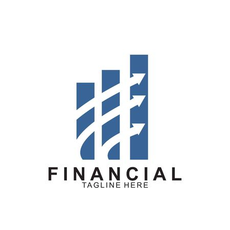 Financial and accounting business logo design. Icon financial vector Иллюстрация