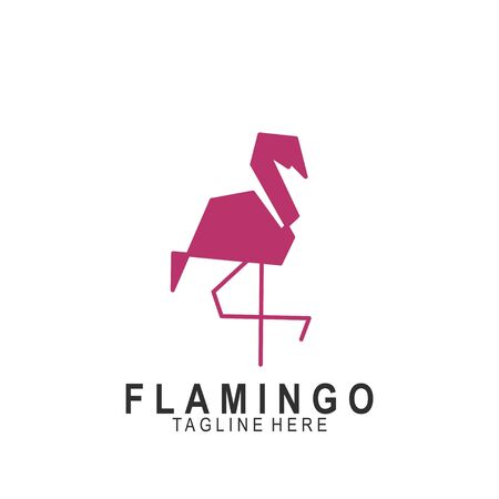 Flamingo logo with modern design. Icon flamingo vector illustration Logó