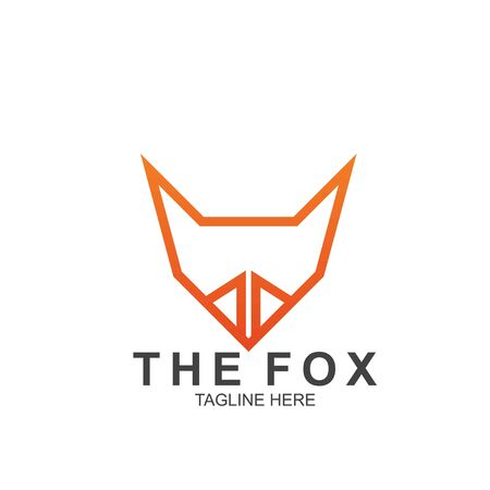 Fox logo with modern concept. Vector icon fox design