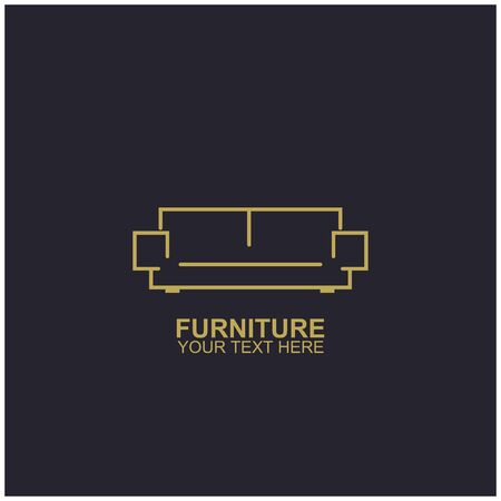 Modern Furniture Vector Logo template. Logo for your business