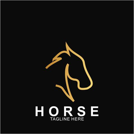 Horse Logo with modern concept. Icon horse vector illustration Иллюстрация
