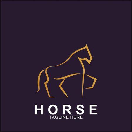 Horse Logo with modern concept. Icon horse vector illustration