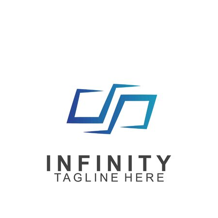 Premium infinity logo design. Icon infinity vector illustration