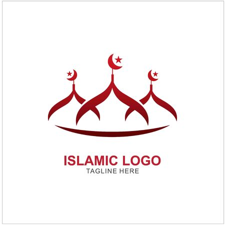 Islamic Logo Design Template. Mosque Icon Design Template