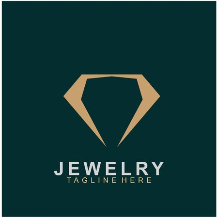 Jewelry logo abstract design with creative design. Diamond icon vector illustration