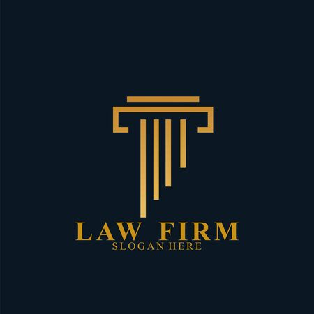 Law Firm Logo Design. Icon law firm vector Logo