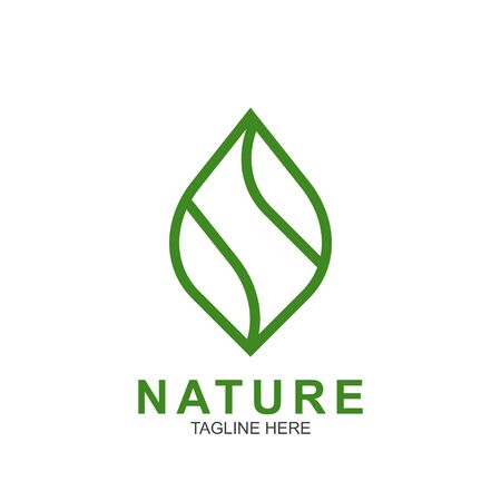 Leaf design logo Template. Green Nature Icon Design