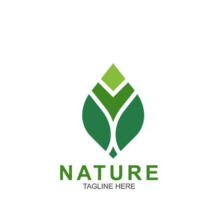 Leaf design logo Template. Green Nature Icon Design Logos