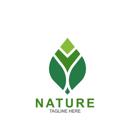 Leaf design logo Template. Green Nature Icon Design Logo