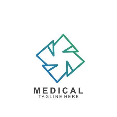 Health logo template design.Medical Cross logo