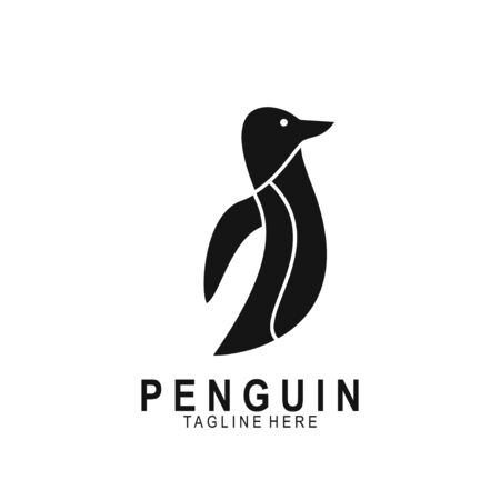 Penguin animal logo with modern design. Vector icon penguin illustration