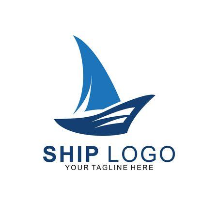 Premium Ship logo with modern concept. ship icon vector illustration