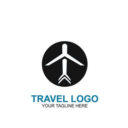 Travel Logo Design Template. Icon Plane Travel Vector