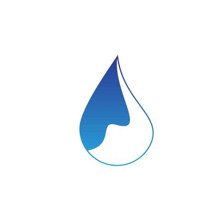 Water drop logo design with modern concept. Oil icon vector illustration Ilustracja