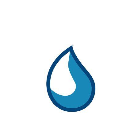 Water drop logo design with modern concept. Oil icon vector illustration Иллюстрация
