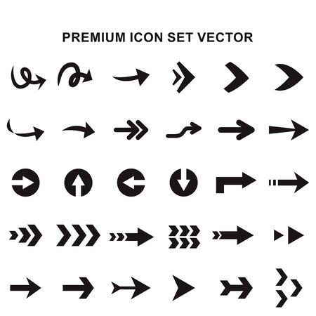Premium mega Set of arrow icons design. icons Use for web and mobile App and other. Editable stroke vector illustration