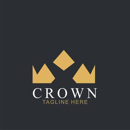 Modern Crown Logo Template. Crown icon Luxury Design Vector