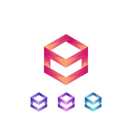 Premium box logo design. box icon vector illustration Ilustracja