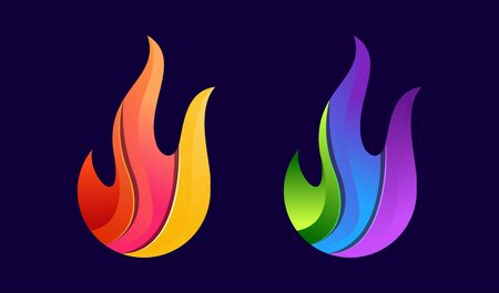 Fire logo colorful with modern concept Ilustracja