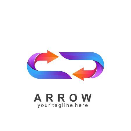 arrow logo colorful design with creative design. Icon arrow vector illustration