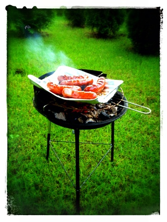 cheapest: The cheapest smallest charcoal bbq ever Stock Photo