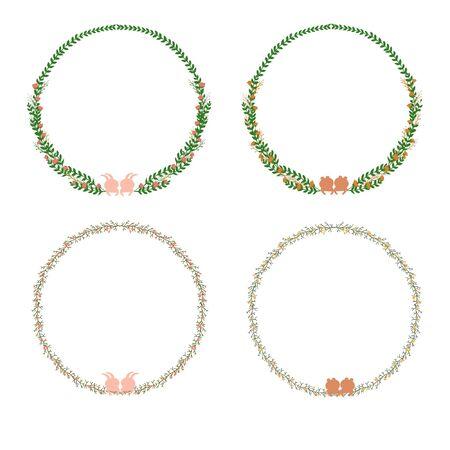the frame: Vector floral frame Illustration