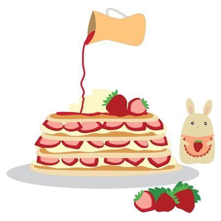 pancake: Pancake with Strawberry