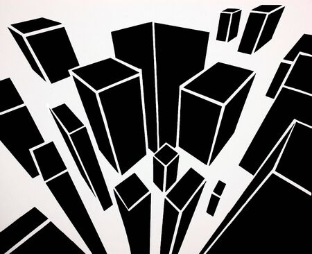 Abstract City with birdeye view