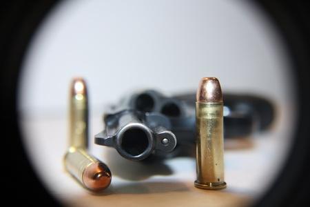.38 special handgun with bullets Stock fotó