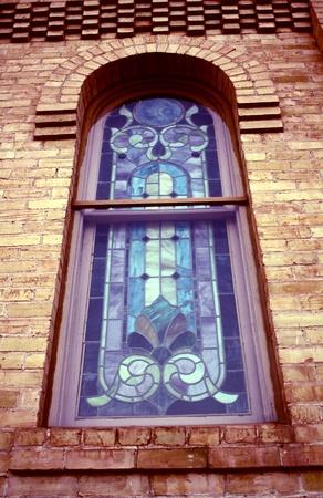 교회에 얼룩 유리 창 스톡 콘텐츠 - 13679963