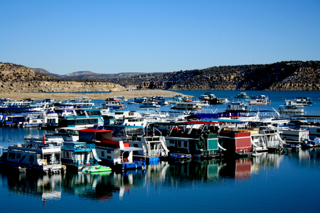 Colorful Boathouses