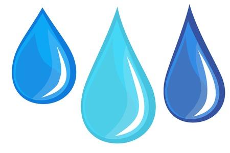 lluvia acida: gotas de agua  Vectores