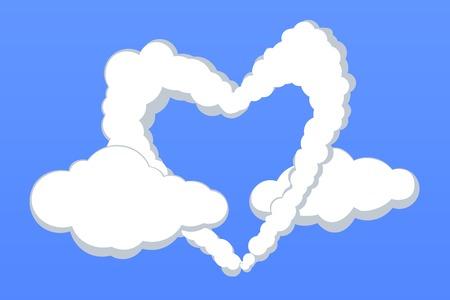 lovestruck: Heart-shaped cloud