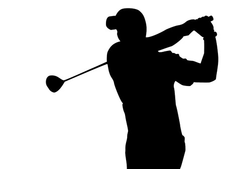 golf player: EPA golfer silhouette