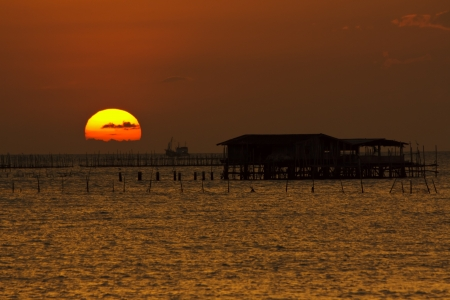 sunsets: Sunsets and sunrises in Thailand Stock Photo