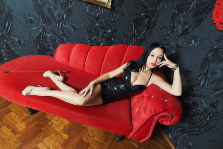 domina: Mistress lying on the couch