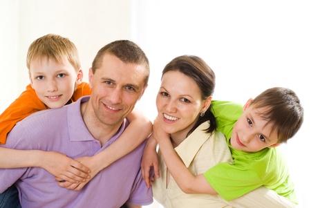 parents with their children together Standard-Bild