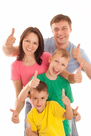 happy family  on a white background