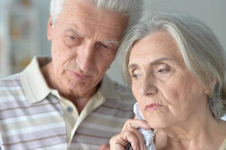 sad beautiful old people in the room