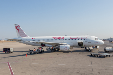 An airplane of the Tunisair airline