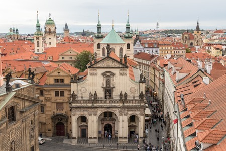 St. Salvator Church is part of Prague's famous Klementinum. It is situated close to Charles Bridge, Czech Republic