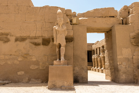 Temple of Ramses 3th - the main entrance to a courtyard in the ancient city of Thebes, Karnak, Luxor, Egypt