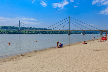 Strand Beach in Novi Sad, Serbia 스톡 콘텐츠