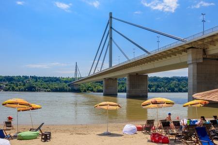 Novi Sad, Serbia - July 3, 2019: Strand Beach in Novi Sad, Serbia