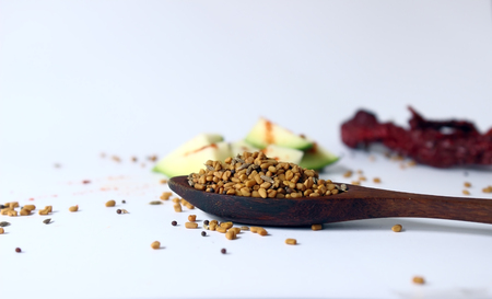 Dry Fenugreek, Mustard seeds, cumin seeds