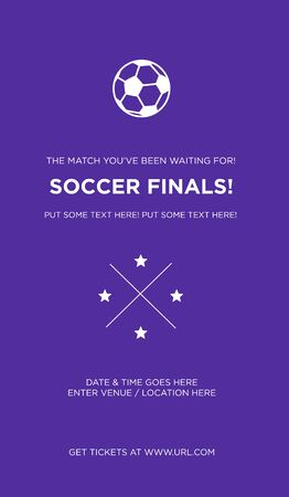 Soccer tournament posters, flyer with volleyball ball - Vector Illustration