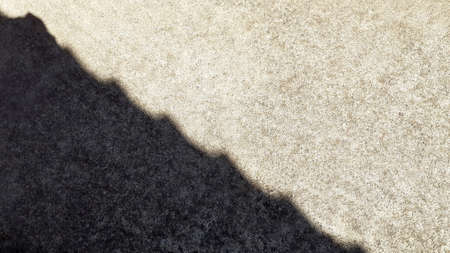 Cement floor Shadow pattern, with light and shadow casting on it, The sun was shining over tiled roof, the sunlight descended upon cement ground, clean And neat texture background concept.